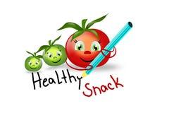 Petisco saudável com tomates ilustração do vetor