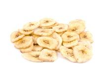 Petisco saudável - microplaquetas da banana Imagem de Stock