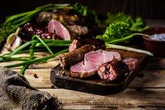 Petiscos da carne caseiros Fotos de Stock Royalty Free