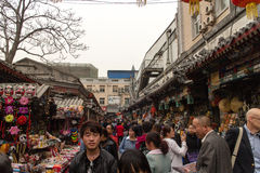 Petiscos de Wanfujing e ruas da compra Foto de Stock