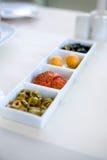 Petiscos deliciosos Fotografia de Stock