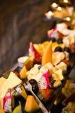 Petiscos do queijo Imagem de Stock