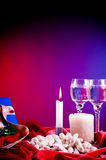 Petiscos e bebidas do feriado Imagens de Stock