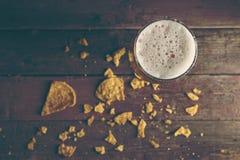 Petiscos e cerveja Imagem de Stock