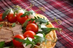 Petiscos italianos do aperitivo fotografia de stock royalty free