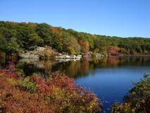 Petit étang en parc d'état de Harriman, NY image stock