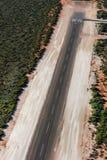 Petit aéroport de désert chez le singe Mia d'Australie Image stock