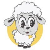 Petit agneau heureux Photo libre de droits