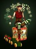 Petit aide Katie, 3d CG. de Santa Photo stock