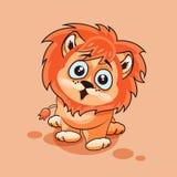 Petit animal de lion étonné Images libres de droits