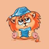 Petit animal de lion assoupi Photographie stock libre de droits