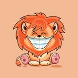 Petit animal de lion avec le sourire énorme Image stock
