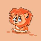 Petit animal de lion confus Photos libres de droits