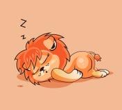 Petit animal de lion endormi Photographie stock libre de droits