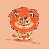 Petit animal de lion fâché Images stock