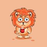Petit animal de lion nerveux Images stock