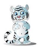 Petit animal de tigre blanc illustration de vecteur