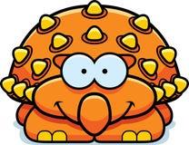 Petit Ankylosaurus de sourire Illustration Stock