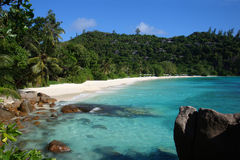 Petit Anse. Beautiful beach of Petit Anse, Mahé, Seychelles Royalty Free Stock Photography