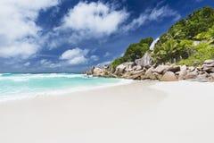 Petit Anse, La Digue, Seychellerna Royaltyfria Bilder