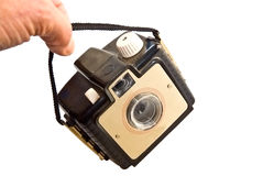 Petit appareil-photo antique Photographie stock