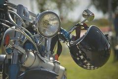 Petit arrêt dans le voyage de motocyclette Photo stock