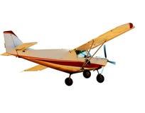 Petit avion avec le propulseur images libres de droits