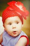 Petit bébé adorable avec de grands yeux Photos stock