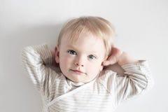 Petit bébé garçon Image libre de droits