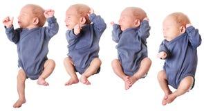 Petit bébé garçon sautant Images libres de droits