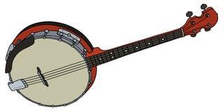 Petit banjo rouge Photo stock
