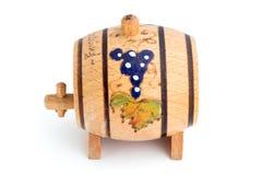 Petit baril en bois décoratif Photographie stock libre de droits