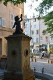 Petit Baron Place Cardeurs, Aix-en-provence, Bouches-du-Rhone, Frankrike Royaltyfria Bilder