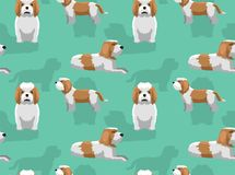 Petit basset Griffon Vendeen Background Seamless Wallpaper de chien Illustration Libre de Droits