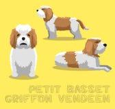 Petit Basset Griffon Vendeen Cartoon Vector Illustration för hund royaltyfri illustrationer