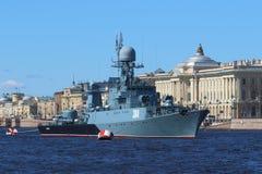 Petit bateau anti-sous-marin Image stock
