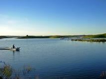 Petit bateau de pêche Images stock