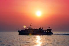 Petit bateau Paros, Grèce d'excursion Image libre de droits