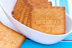 petit beurre krakers Zdjęcia Stock