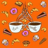 petit blanc de théière de thé de café illustration stock