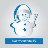Petit bonhomme de neige de papier Image libre de droits