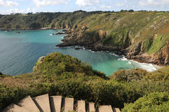 Petit Bot Bay, Guernsey. Petit Bot Bay from Icart Point on Guernsey Royalty Free Stock Images