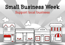 Petit Business Week, Main Street Etats-Unis Images stock