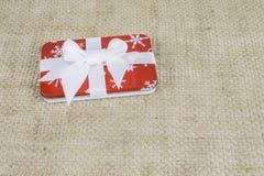 Petit cadeau de Noël de vacances Photographie stock