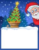 Petit cadre avec le thème 1 de Noël Photographie stock libre de droits