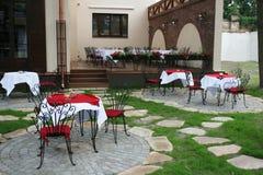 Petit café-restaurant Photo stock
