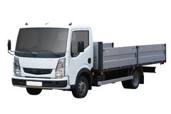 Petit camion blanc Images stock