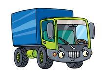 Petit camion drôle avec des yeux illustration de vecteur