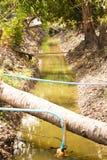 Petit canal d'irrigation Photos stock