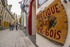 Petit Champlain Quebec city Stock Photo